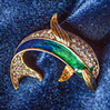 Brooch in the shape of a dolphin